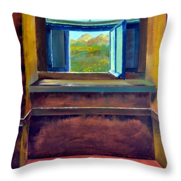 Open Window Throw Pillow by Michelle Calkins