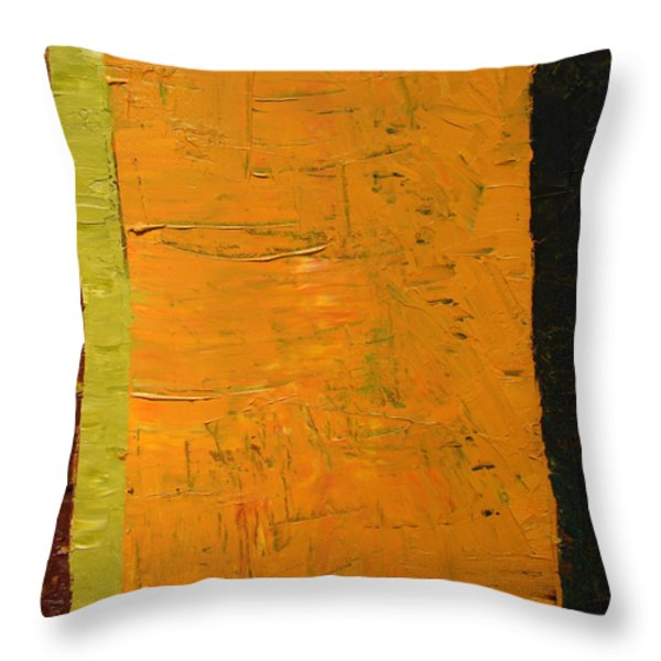 Orange And Brown Throw Pillow by Michelle Calkins