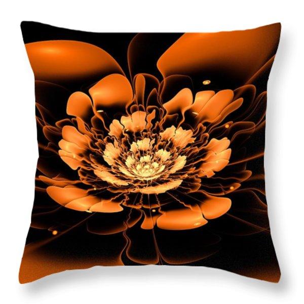 Orange Flower  Throw Pillow by Anastasiya Malakhova