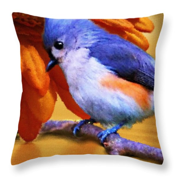 Orange Medley Throw Pillow by Jai Johnson