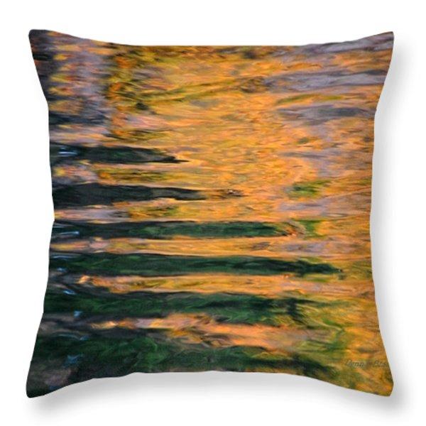 Orange Sherbert Throw Pillow by Donna Blackhall