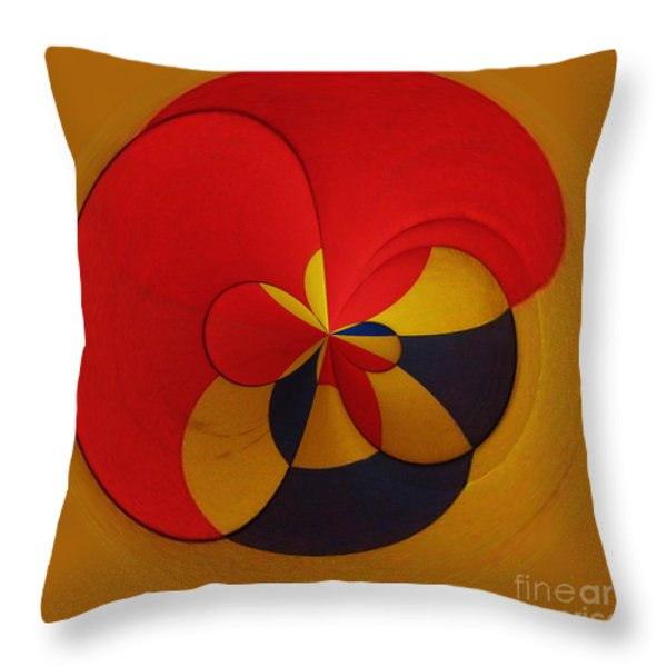 Orb 9 Throw Pillow by Elena Nosyreva