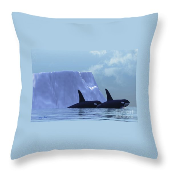 Orca Throw Pillow by Corey Ford