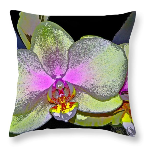 Orchid 2 Throw Pillow by Pamela Cooper