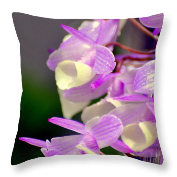 Orchid 25 Throw Pillow by Marty Koch