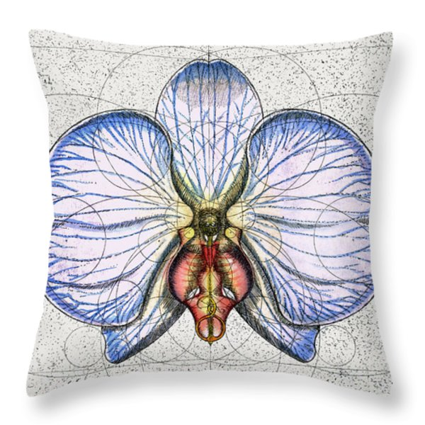Orchid Throw Pillow by Charles Harden