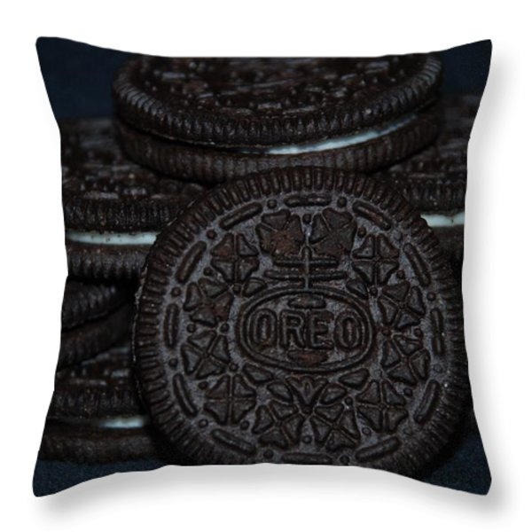 Oreo Cookies Throw Pillow by Rob Hans