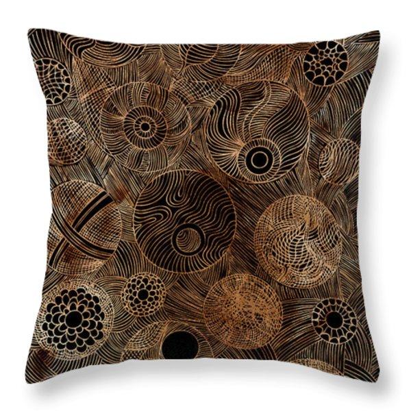 Organic Forms Throw Pillow by Frank Tschakert