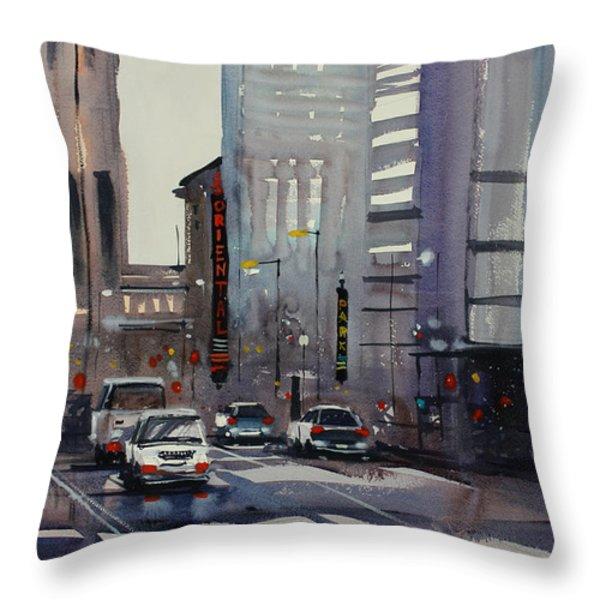 Oriental Theater - Chicago Throw Pillow by Ryan Radke