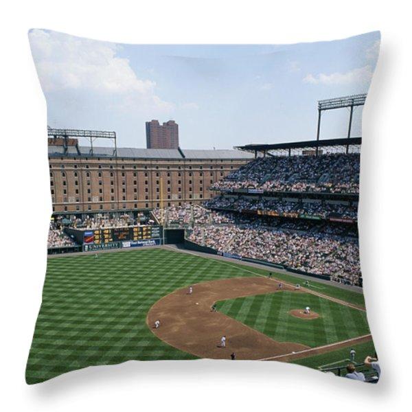 Orioles Park. Kansas City Royals Throw Pillow by Brian Gordon Green