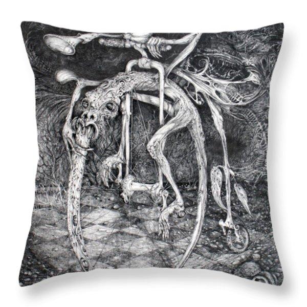 Ouroboros Perpetual Motion Machine Throw Pillow by Otto Rapp