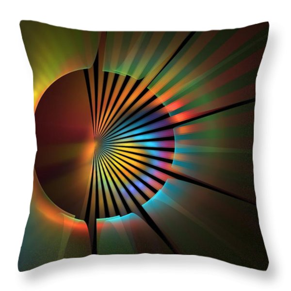 Out Of The Corner Of My Eye Throw Pillow by Lyle Hatch