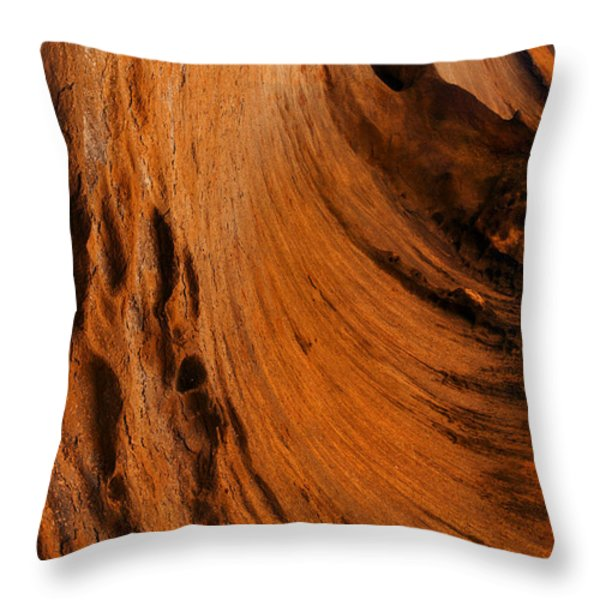 Outback cavern Throw Pillow by Mike  Dawson