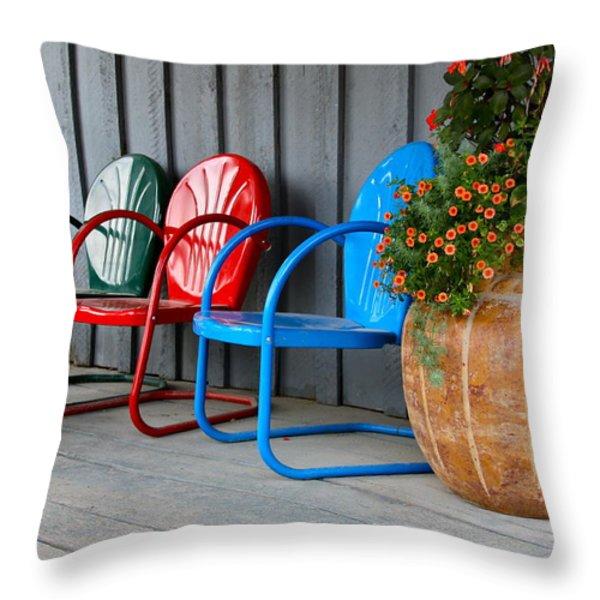 Outdoor Living Throw Pillow by Karon Melillo DeVega