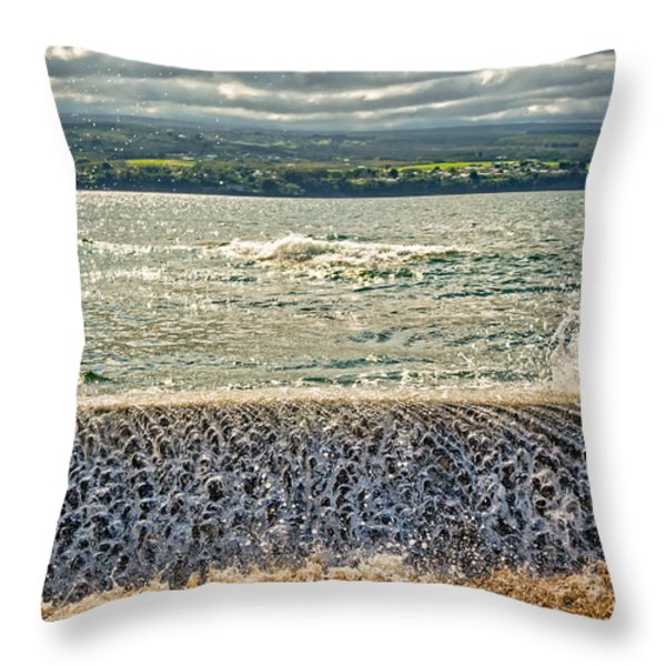 Over The Wall Throw Pillow by Christopher Holmes