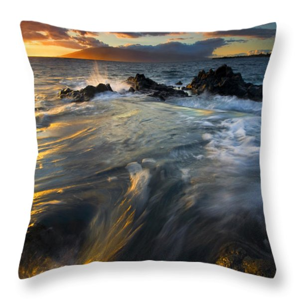 Overflow Throw Pillow by Mike  Dawson