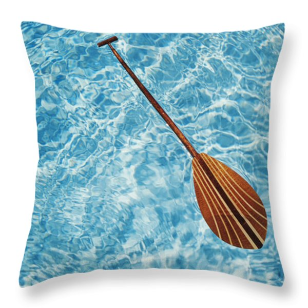 Overhead View Of Paddle Throw Pillow by Joss - Printscapes