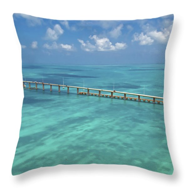 Overseas Highway Throw Pillow by Patrick M Lynch