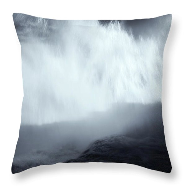 Overshadowed By Nature Throw Pillow by Mike  Dawson