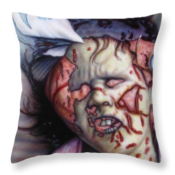 Pain Throw Pillow by James W Johnson