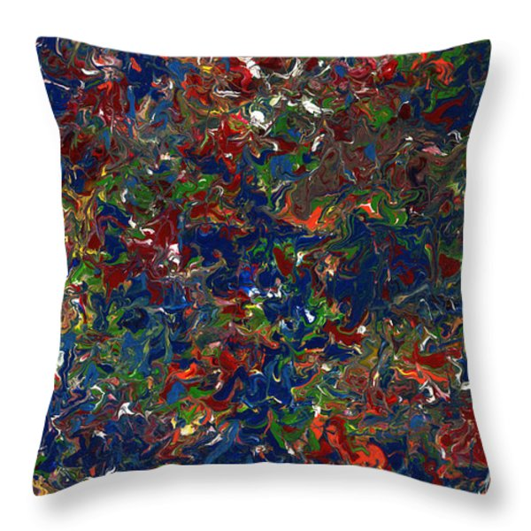 Paint number 1 Throw Pillow by James W Johnson