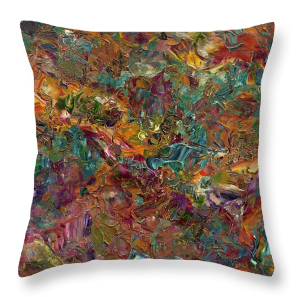 Paint number 16 Throw Pillow by James W Johnson
