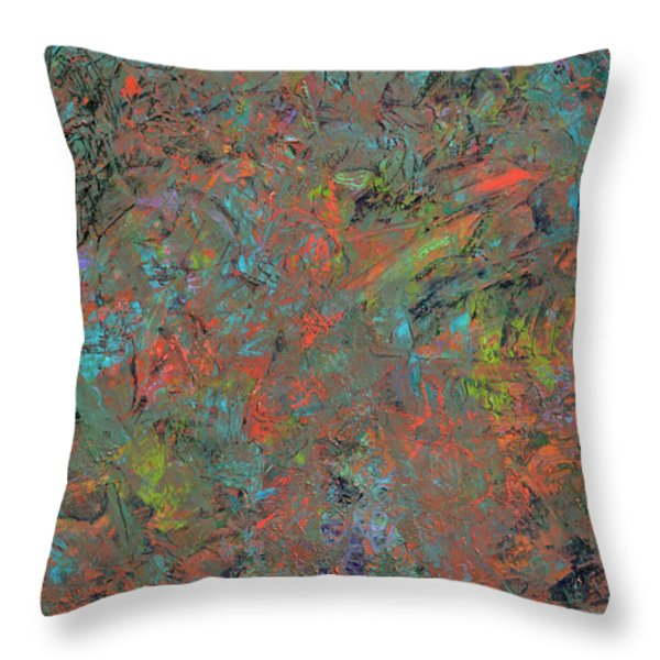 Paint Number 17 Throw Pillow by James W Johnson