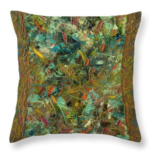 Paint Number 24 Throw Pillow by James W Johnson