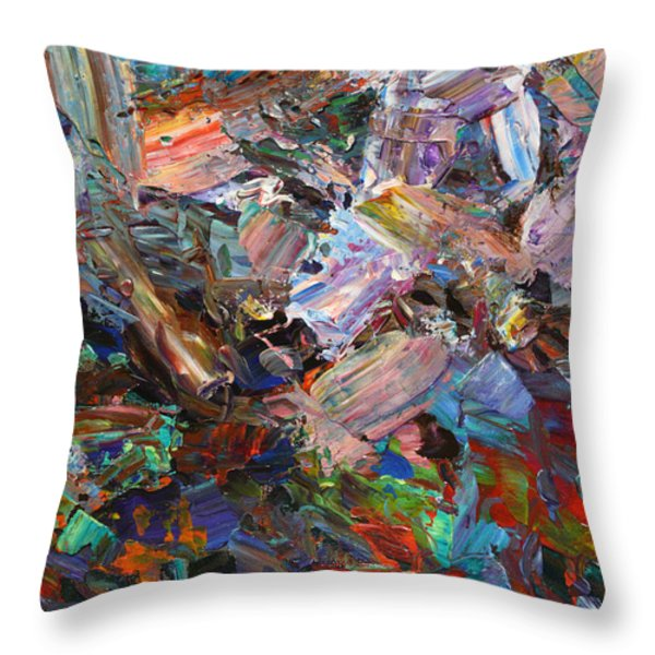 Paint number 42-c Throw Pillow by James W Johnson