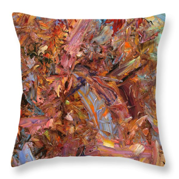 Paint Number 43b Throw Pillow by James W Johnson