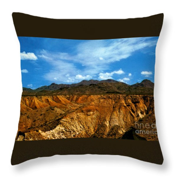 Painted Desert Throw Pillow by Ruth  Housley