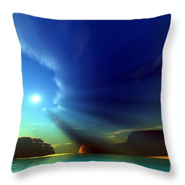 Painted Veil Throw Pillow by Corey Ford
