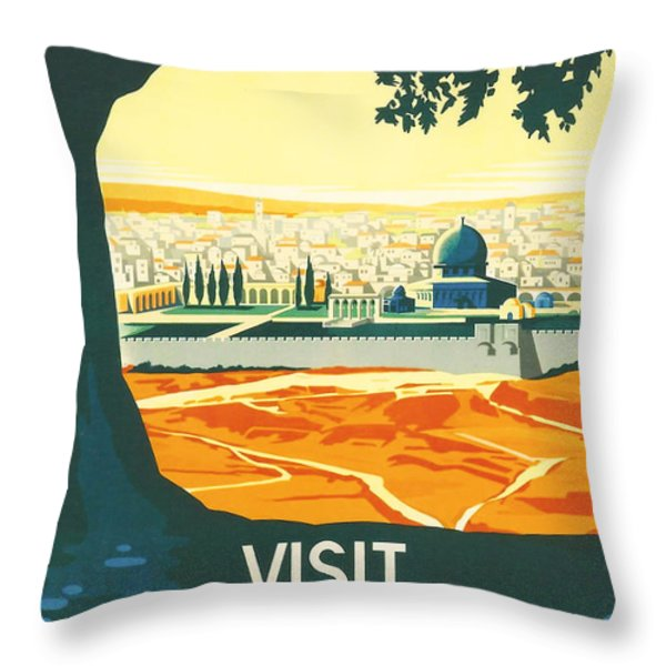 Palestine Throw Pillow by Nomad Art And  Design