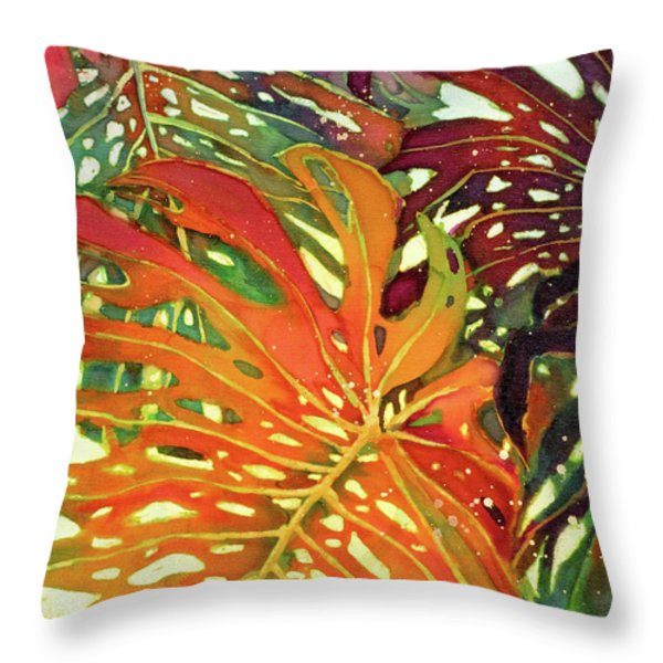 Palm Patterns 2 Throw Pillow by Deborah Younglao