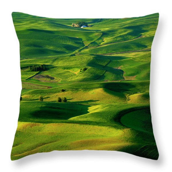 Palouse Morning Throw Pillow by Mike  Dawson