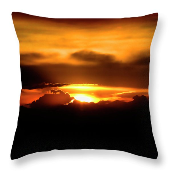 Palouse Sunset Throw Pillow by David Patterson