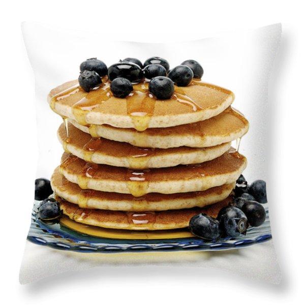Pancakes Throw Pillow by Glennis Siverson