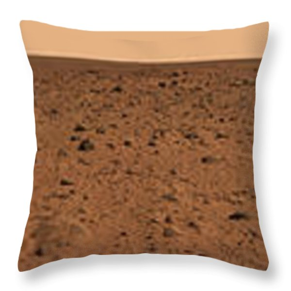 Panoramic View Of Bonneville Crater Throw Pillow by Stocktrek Images