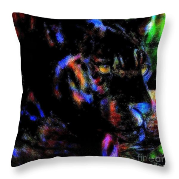 Panther Throw Pillow by WBK