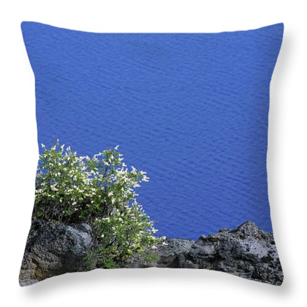 Paradise for Backpackers - Crater Lake in Crater National Park - Oregon Throw Pillow by Christine Till