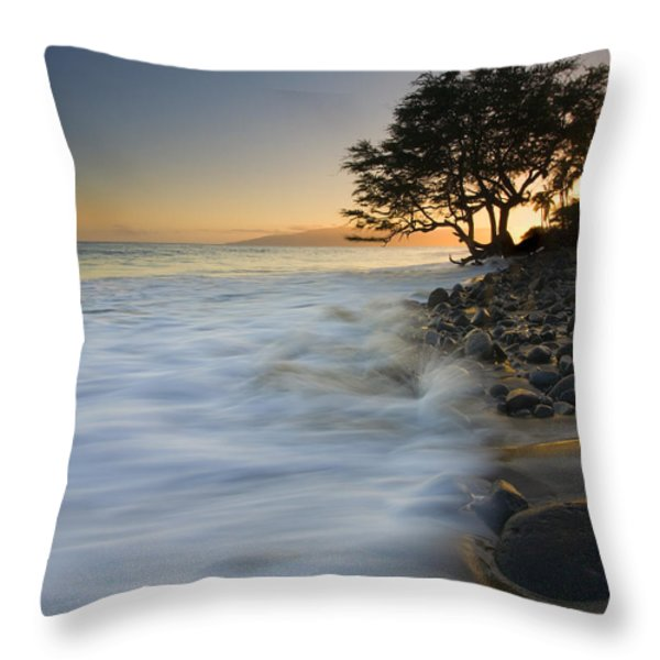 PAradise Gold Throw Pillow by Mike  Dawson