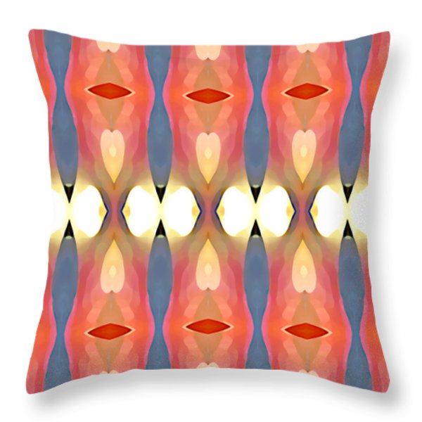 Paradise Repeated Throw Pillow by Amy Vangsgard