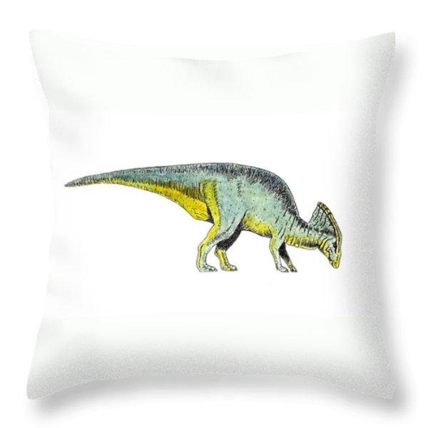 Parasaurolophus Throw Pillow by Michael Vigliotti