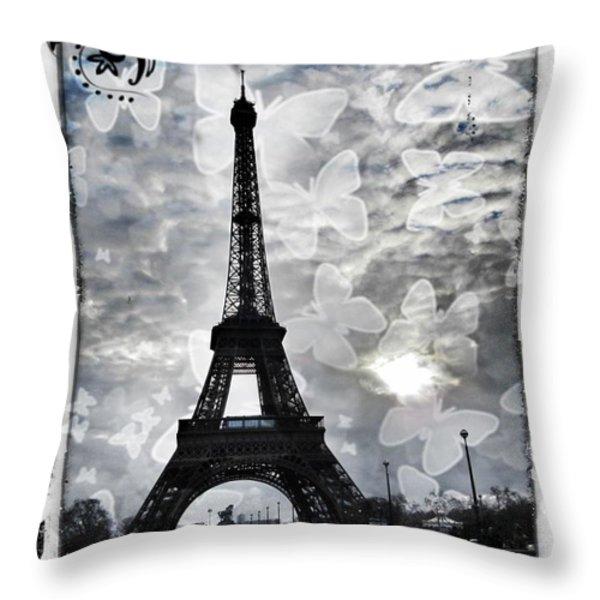 Paris Throw Pillow by Marianna Mills