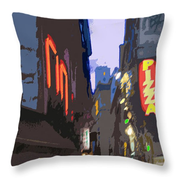 Paris Quartier Latin 01  Throw Pillow by Yuriy  Shevchuk