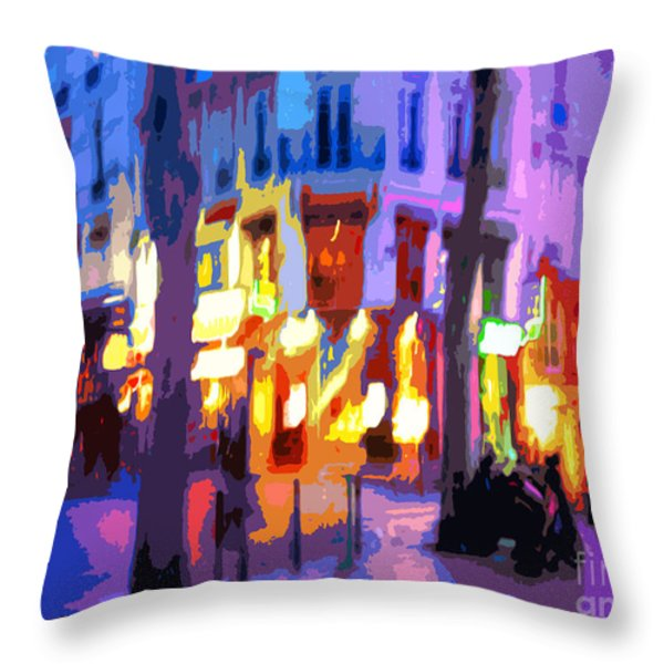 Paris Quartier Latin 02 Throw Pillow by Yuriy  Shevchuk