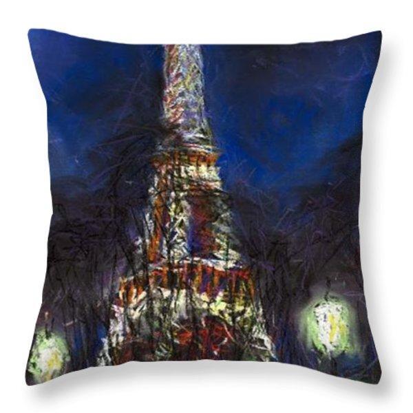 Paris Tour Eiffel Throw Pillow by Yuriy  Shevchuk