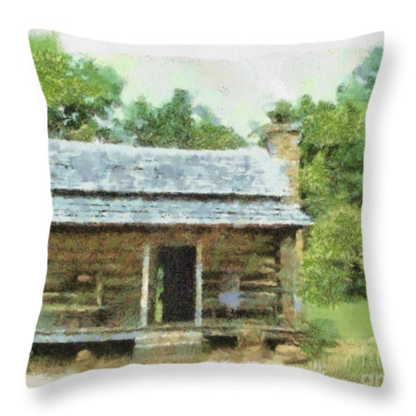 Parkway Cabin Throw Pillow by Paulette B Wright