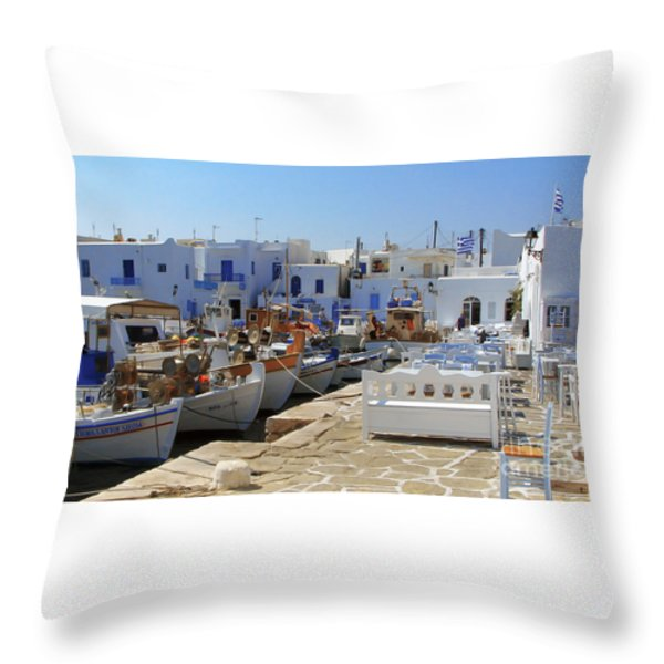 Paros Throw Pillow by Christo Christov