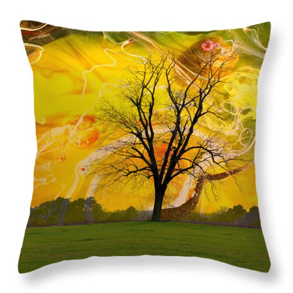 Party Skies Throw Pillow by Jan Amiss Photography